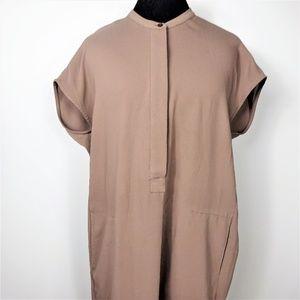Andrew Marc New York Shift Dress Short Sleeeve